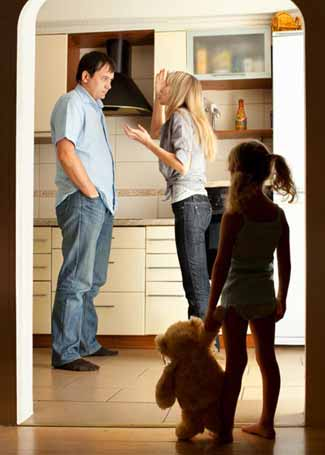 Small family facing divorce and child support issues